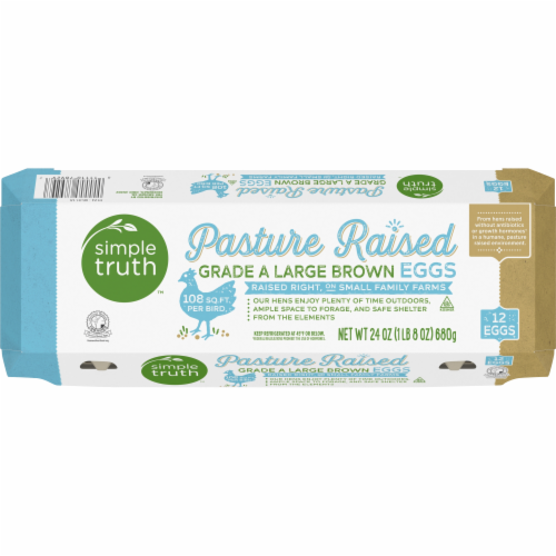 Simple Truth™ Pasture Raised Grade A Large Brown Eggs Perspective: top