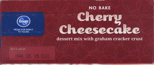 Kroger® No Bake Cherry Cheesecake Dessert Mix Perspective: top