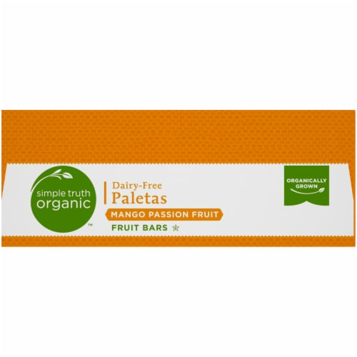 Simple Truth Organic™ Dairy-Free Mango Passion Fruit Paletas Bars Perspective: top