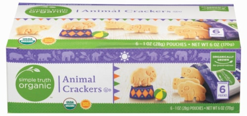 Simple Truth Organic™ Animal Crackers Pouches 6 Count Perspective: top