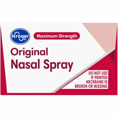 Kroger® Maximum Strength Original Nasal Spray Perspective: top