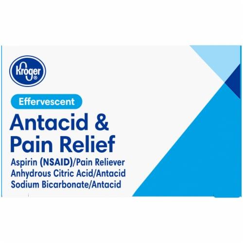 Kroger® Antacid & Pain Relief Original Flavor Effervescent Tablets Perspective: top
