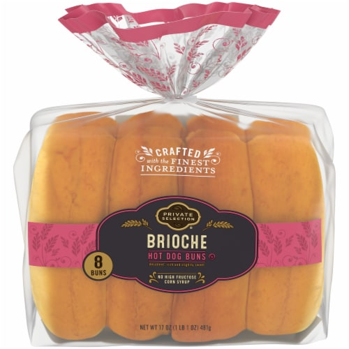 Private Selection® Brioche Hot Dog Buns Perspective: top