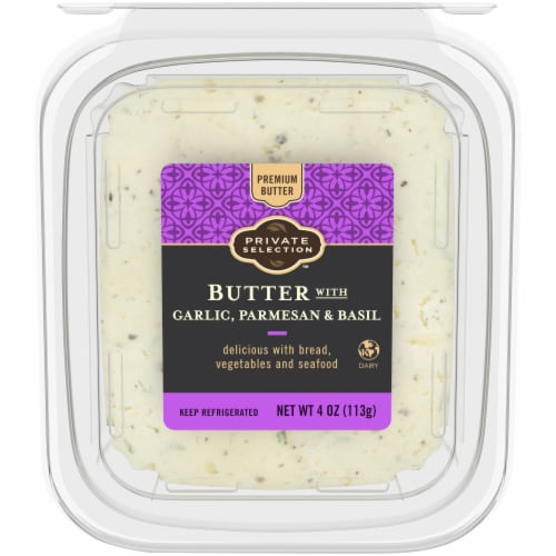 Private Selection™ Butter with Garlic Parmesan & Basil Perspective: top