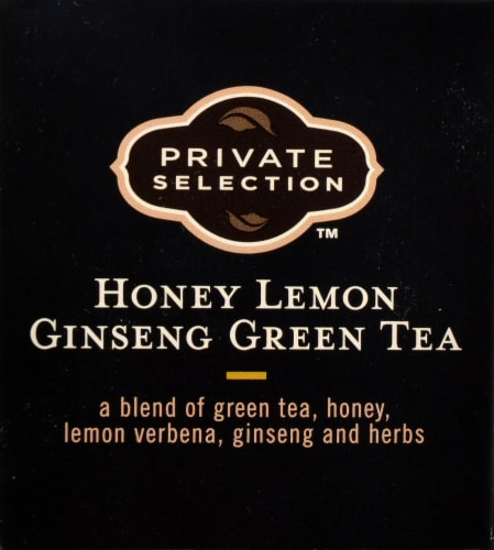 Private Selection™ Honey Lemon Ginseng Green Tea Bags Perspective: top