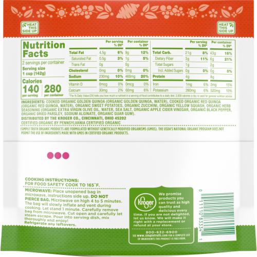 Simple Truth Organic™ Sweet Potato & Zucchini Quinoa Perspective: top