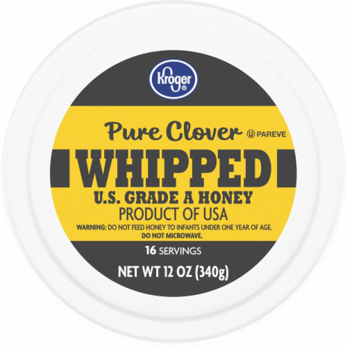 Kroger® Whipped Pure Clover Honey Tub Perspective: top