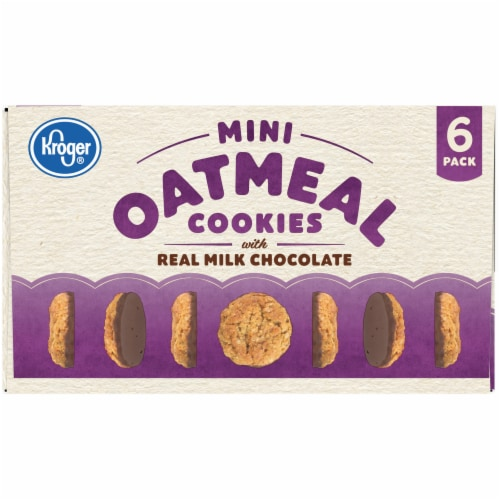 Kroger® Mini Oatmeal Cookies with Real Milk Chocolate Perspective: top