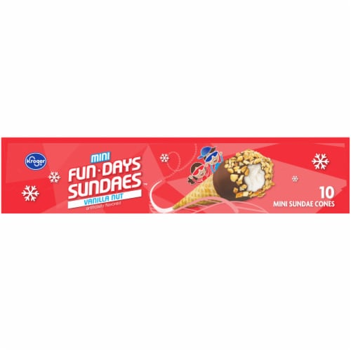 Kroger® Mini Fun Days Sundaes™ Vanilla Cones Perspective: top