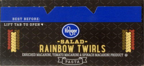 Kroger® Salad Rainbow Twirls Pasta Perspective: top