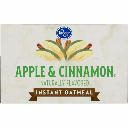 Kroger® Apples & Cinnamon Instant Oatmeal Perspective: top