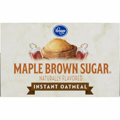 Kroger® Maple & Brown Sugar Instant Oatmeal Perspective: top