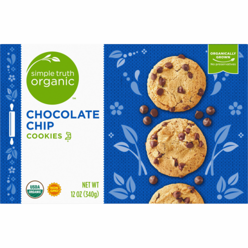 Simple Truth Organic™ Chocolate Chip Cookies Perspective: top