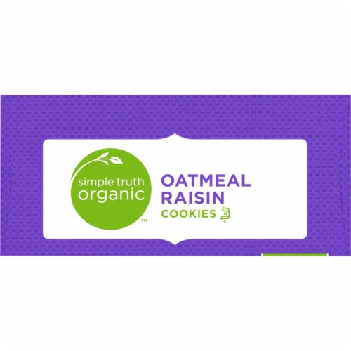 Simple Truth Organic™ Oatmeal Raisin Cookies Perspective: top