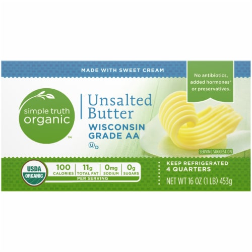 Simple Truth Organic™ Unsalted Butter Perspective: top