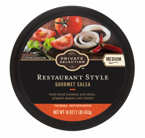 Private Selection™ Medium Restaurant Style Gourmet Salsa Perspective: top