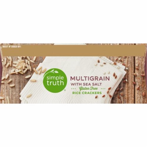 Simple Truth® Gluten Free Multigrain with Sea Salt Rice Crackers Perspective: top