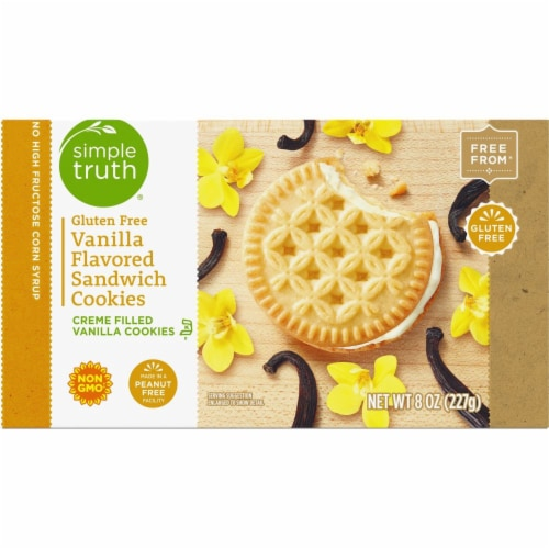 Simple Truth® Gluten Free Vanilla Flavored Sandwich Cookies Perspective: top