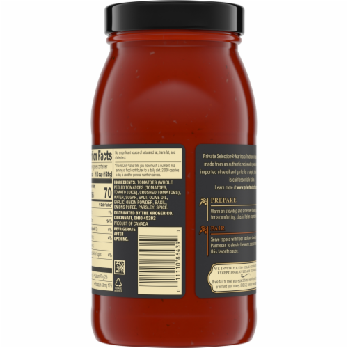 Private Selection® Marinara Traditional Tomato Sauce Perspective: top