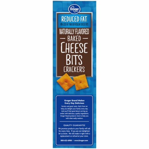 Kroger® So Cheesy! Reduced Fat Baked Cheese Bits Crackers Perspective: top