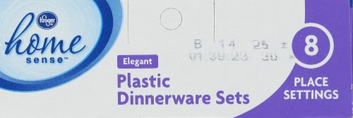 Kroger® Plastic Dinnerware Set Perspective: top