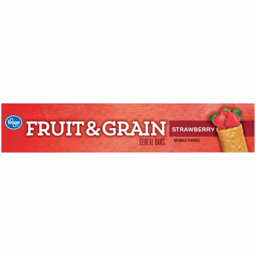 Kroger® Fruit & Grain Strawberry Cereal Bars Perspective: top