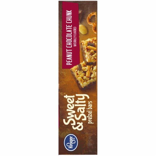Kroger® Sweet & Salty Peanut Chocolate Chunk Pretzel Bars Perspective: top