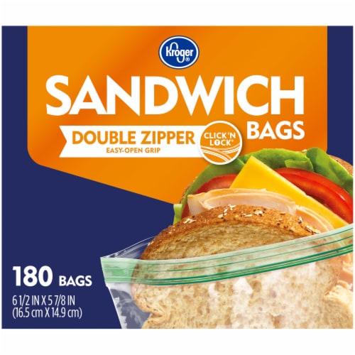 Kroger® Double Zipper Sandwich Bags Perspective: top