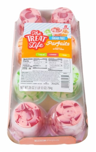 The Treat Life Assorted Parfaits 8 Count Perspective: top
