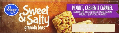 Kroger® Sweet & Salty Peanut Cashew & Caramel Granola Bars Perspective: top