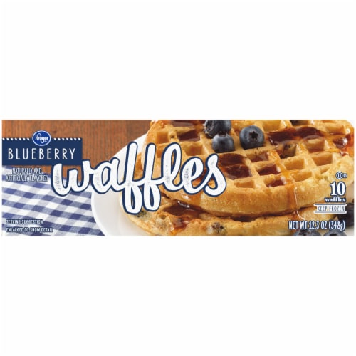 Kroger® Blueberry Waffles Perspective: top