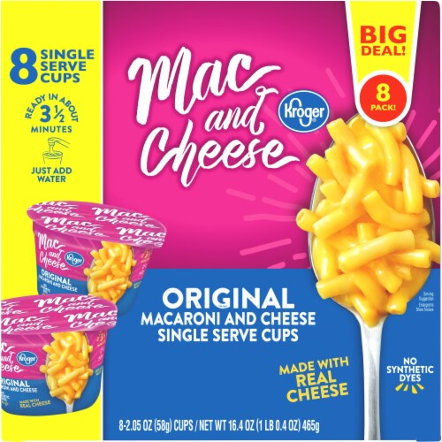 Kroger® Macaroni & Cheese Cups Perspective: top