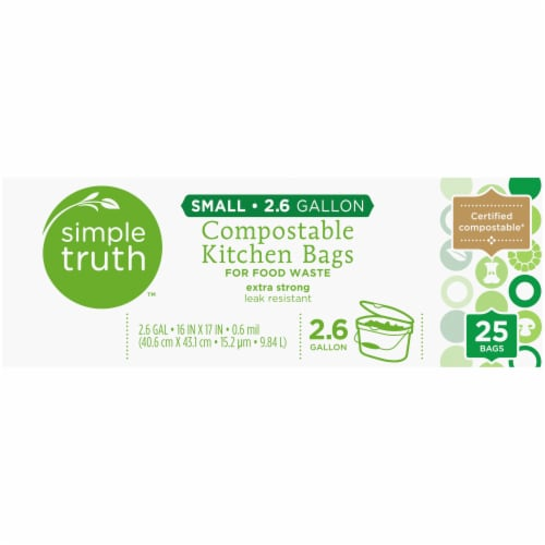 Simple Truth™ Small 2.6 Gallon Compostable Kitchen Trash Bags Perspective: top