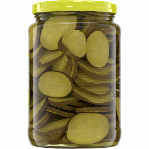 Kroger® Hamburger Dill Oval Cut Pickle Chips Perspective: top