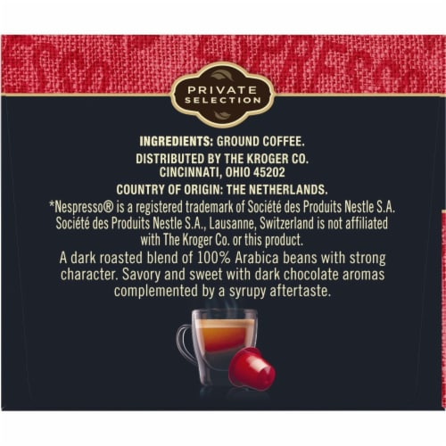 Private Selection™ Lungo Forte Espresso Capsules Perspective: top