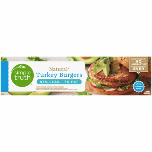 Simple Truth® Natural Turkey Burgers Perspective: top