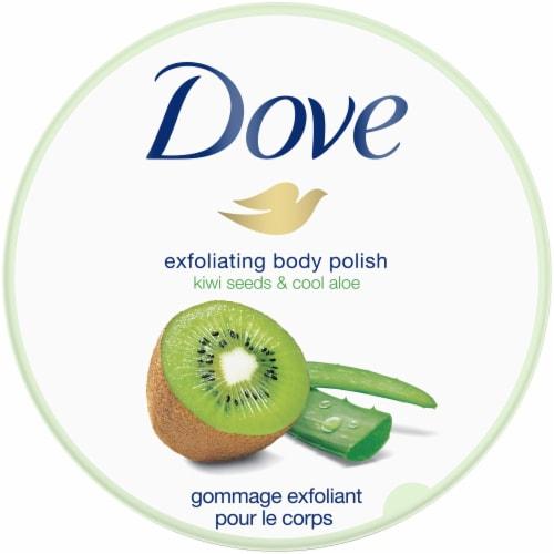 Dove Kiwi Seeds & Cool Aloe Exfoliating Body Scrub & Polish Perspective: top