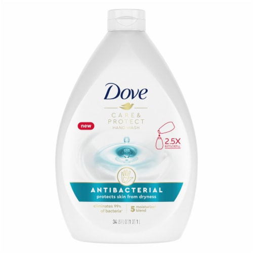 Dove Care & Protect Antibacterial Hand Wash Perspective: top