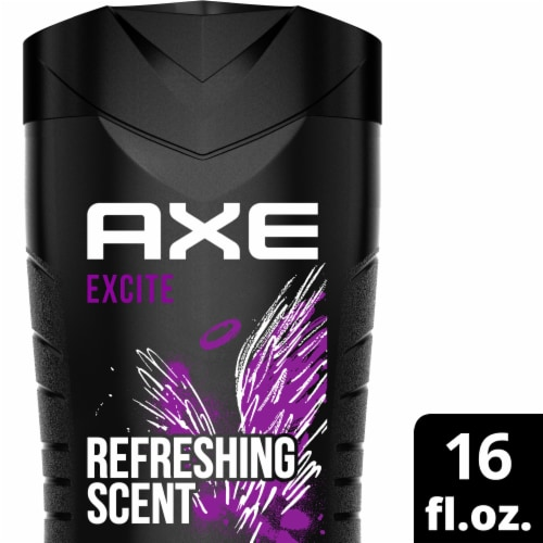 Axe Excite Crisp Coconut & Black Pepper Body Wash Perspective: top