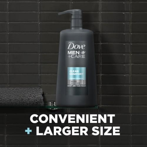 Dove Men+Care Clean Comfort Micro Moisture Body + Face Wash Perspective: top