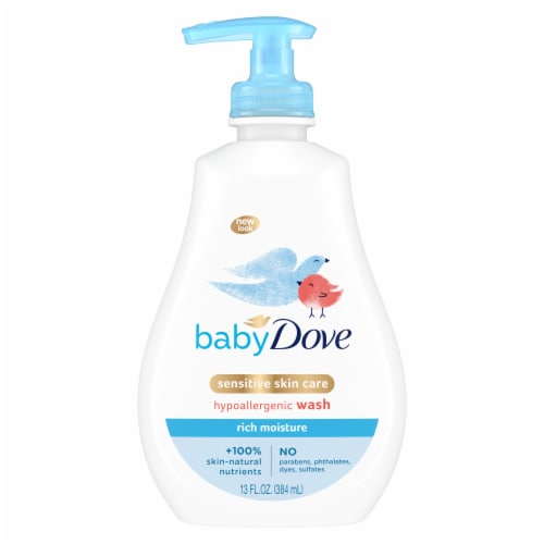 Baby Dove Hypoallergenic Sensitive Skin Rich Moisture Tear-Free Baby Wash Perspective: top