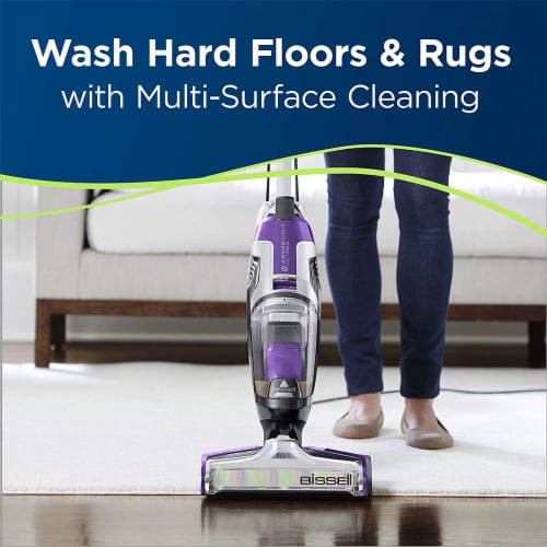 Bissell 2306A CrossWave Pet Pro Multi-Surface Wet Dry Vacuum Cleaner, Purple Perspective: top