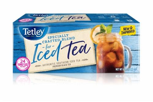 Tetley Iced Tea Blend Tea Bags Family Size Perspective: top