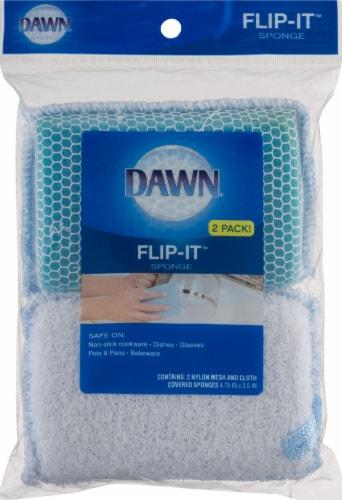 Dawn Flip-It Sponge - Blue Perspective: top