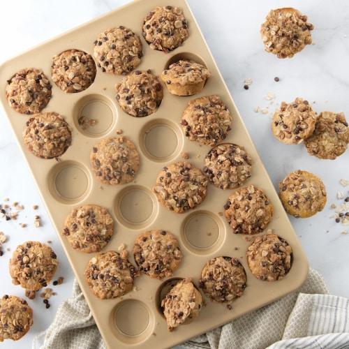 Nordic Ware Natural Aluminum NonStick Commercial Petite Muffin Pan Perspective: top