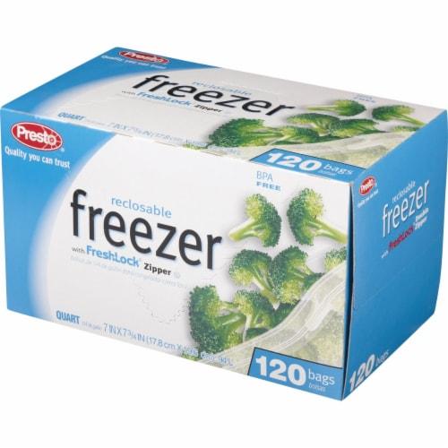 Presto 1 Qt. Reclosable Freezer Bag (120 Count) C00507S0 Perspective: top