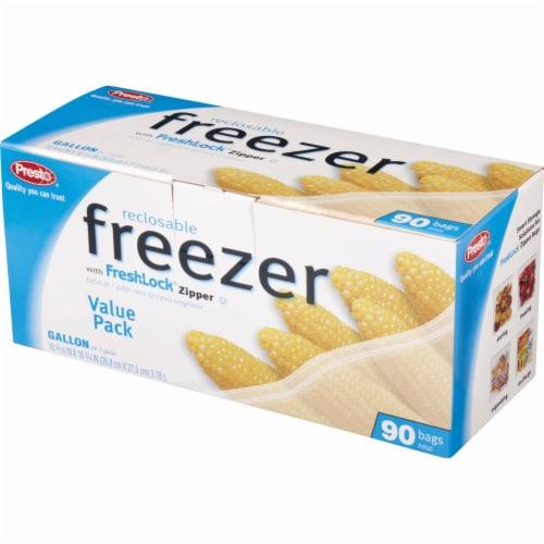 Presto 1 Gal. Reclosable Freezer Bag (90 Count) C00482S0 Perspective: top