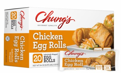 Chung's Chicken Egg Rolls Perspective: top