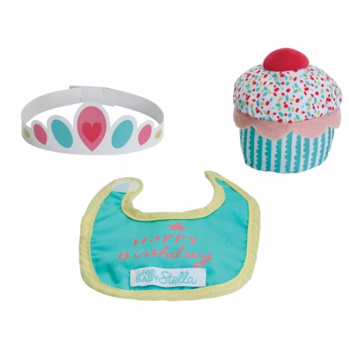 """Manhattan Toy Wee Baby Stella Sweet Scents 12"""" Soft Baby Doll and Birthday Set Perspective: top"""