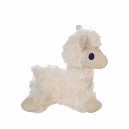 """Manhattan Toy Floppies 7"""" Baby Llama Plush Toy Perspective: top"""